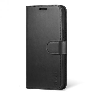 TUCCH Samsung Galaxy S8 Plus Wallet Case Folio Style Kickstand With Magnetic Strap