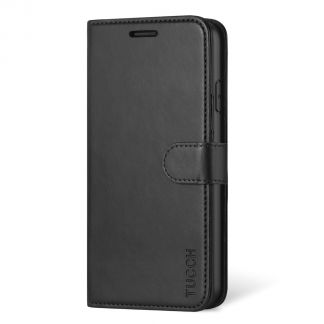 TUCCH iPhone 11 Leather Wallet Case Folio Flip Kickstand With Magnetic Clasp