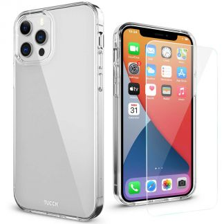 TUCCH iPhone 12 iPhone 12 Pro Clear Case, IML New Craft Scratchproof Shockproof Slim Case - Clear