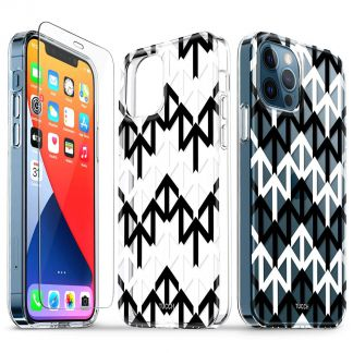 TUCCH iPhone 12 iPhone 12 Pro Clear Case, IML New Craft Scratchproof Shockproof Slim Case - Arrows
