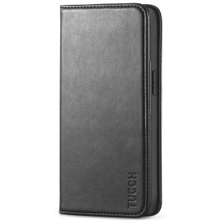 TUCCH iPhone 13 Pro Max Wallet Case - iPhone 13 Pro Max Flip Cover With Magnetic Closure-Black
