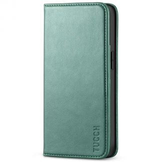 TUCCH iPhone 13 Pro Max Wallet Case - iPhone 13 Pro Max Flip Cover With Magnetic Closure-Myrtle Green