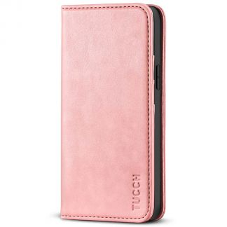 TUCCH iPhone 13 Pro Max Wallet Case - iPhone 13 Pro Max Flip Cover With Magnetic Closure-Rose Gold
