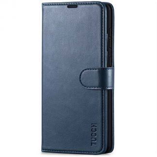 TUCCH Samsung Galaxy A72 Wallet Case Folio Style Kickstand With Magnetic Strap - Dark Blue