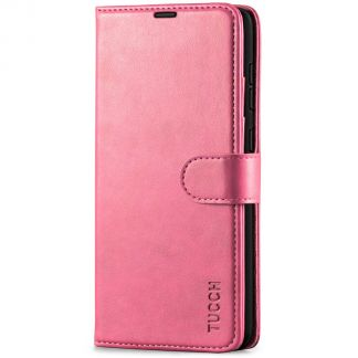 TUCCH Samsung Galaxy A72 Wallet Case Folio Style Kickstand With Magnetic Strap - Hot Pink