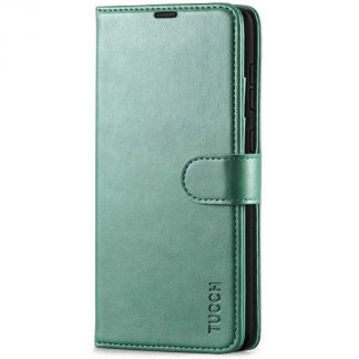 TUCCH Samsung Galaxy A72 Wallet Case Folio Style Kickstand With Magnetic Strap - Myrtle Green