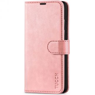 TUCCH Samsung Galaxy A72 Wallet Case Folio Style Kickstand With Magnetic Strap - Rose Gold