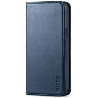 TUCCH iPhone 12 6.1-Inch Wallet Case - iPhone 12 Pro Flip Cover With Magnetic Closure-Dark Blue