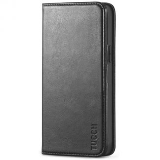 TUCCH iPhone 12 6.1-Inch Wallet Case - iPhone 12 Pro Flip Cover With Magnetic Closure-Black