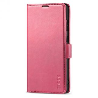 TUCCH Samsung S21 Ultra Wallet Case, Samsung Galaxy S21 Ultra 5G Flip PU Leather Cover, Stand with RFID Blocking and Magnetic Closure-Hot Pink