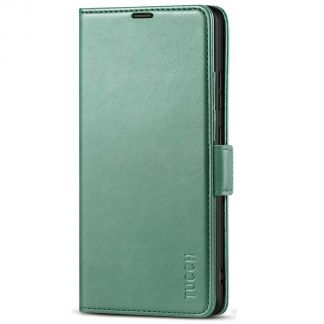 TUCCH Samsung S21 Ultra Wallet Case, Samsung Galaxy S21 Ultra 5G Flip PU Leather Cover, Stand with RFID Blocking and Magnetic Closure-Myrtle Green