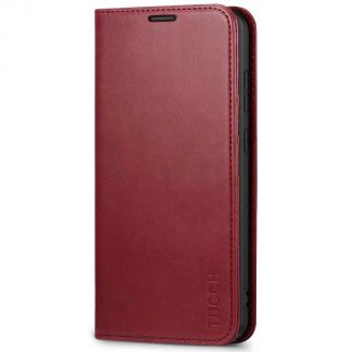 TUCCH Samsung S20 Plus Wallet Case, Galaxy S20 Plus /5G Flip Cover, Stand with RFID Blocking and Magnetic Closure-Red