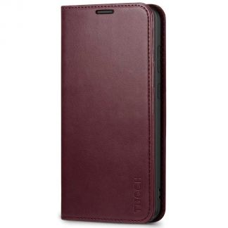 TUCCH Samsung S20 Plus Wallet Case, Galaxy S20 Plus /5G Flip Cover, Stand with RFID Blocking and Magnetic Closure-Wine Red