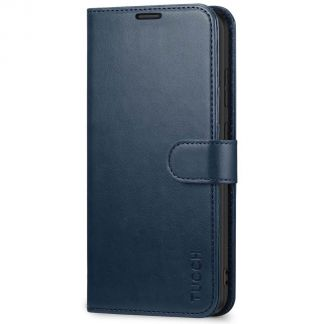 TUCCH Samsung Galaxy S20 Plus /5G Wallet Case Folio Style Kickstand With Magnetic Strap-Blue