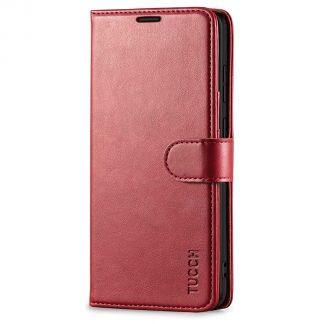 TUCCH Samsung Galaxy S20 Ultra Wallet Case Folio Style Kickstand With Magnetic Strap-Dark Red