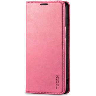 TUCCH Samsung S20 Ultra Wallet Case, Samsung Galaxy S20 Ultra /5G Flip PU Leather Cover, Stand with RFID Blocking and Magnetic Closure - Hot Pink