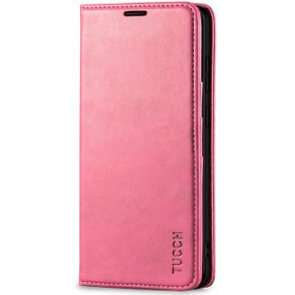 TUCCH Samsung S20 Wallet Case, Samsung Galaxy S20 /5G Flip PU Leather Cover, Stand with RFID Blocking and Magnetic Closure - Hot Pink