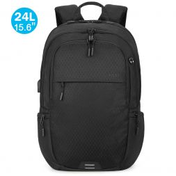 15.6-inch Laptop Backpack, 24L Lightweight Travel Backpack with RFID Blocking Pocket