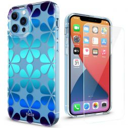 TUCCH iPhone 12 iPhone 12 Pro Clear Case, IML New Craft Scratchproof Shockproof Slim Case - Drop Water