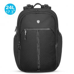 "17.3"" Laptop Backpack, Reflective Strip Water Resistant College Backpacks 24L"
