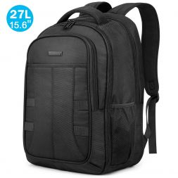 "15.6"" Laptop Backpack, Carry-on Travel Backpack 27L with RFID Pocket Anti-Theft Water Repellent"