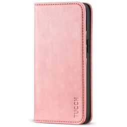 TUCCH iPhone 13 Mini Wallet Case - Mini iPhone 13 5.4-inch PU Leather Cover with Kickstand Folio Flip Book Style, Magnetic Closure-Rose Gold