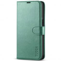 TUCCH iPhone 13 Pro Wallet Case, iPhone 13 Pro Book Folio Flip Kickstand With Magnetic Clasp-Myrtle Green