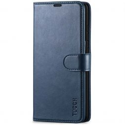 TUCCH Samsung Galaxy A52 Wallet Case Folio Style Kickstand With Magnetic Strap - Dark Blue