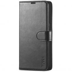 TUCCH Samsung Galaxy A52 Wallet Case Folio Style Kickstand With Magnetic Strap - Black