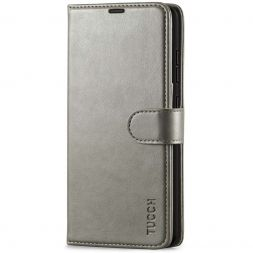 TUCCH Samsung Galaxy A52 Wallet Case Folio Style Kickstand With Magnetic Strap - Gray