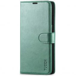 TUCCH Samsung Galaxy A52 Wallet Case Folio Style Kickstand With Magnetic Strap - Myrtle Green
