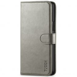 TUCCH iPhone 11 Pro Wallet Case Folio Flip Kickstand With Magnetic Clasp-Gray