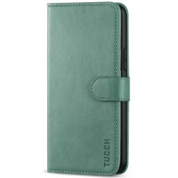 TUCCH iPhone 11 Pro Wallet Case Folio Flip Kickstand With Magnetic Clasp-Myrtle Green