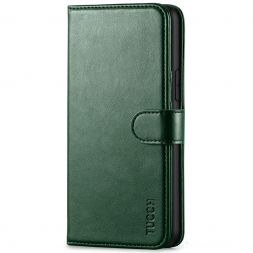 TUCCH iPhone 11 Pro Wallet Case Folio Flip Kickstand With Magnetic Clasp-Midnight Green