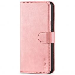 TUCCH iPhone 11 Pro Wallet Case Folio Flip Kickstand With Magnetic Clasp-Rose Gold