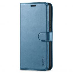 TUCCH iPhone 11 Leather Wallet Case Folio Flip Kickstand With Magnetic Clasp-Lake Blue