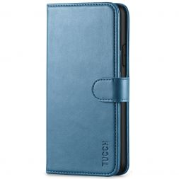 TUCCH IPhone 11 Pro Max Leather Wallet Case Folio Flip Kickstand With Magnetic Clasp-Lake Blue