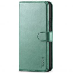 TUCCH IPhone 11 Pro Max Leather Wallet Case Folio Flip Kickstand With Magnetic Clasp-Myrtle Green