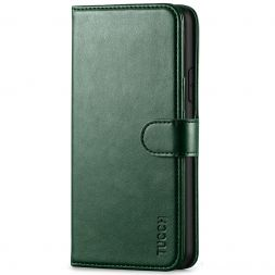 TUCCH IPhone 11 Pro Max Leather Wallet Case Folio Flip Kickstand With Magnetic Clasp-Midnight Green
