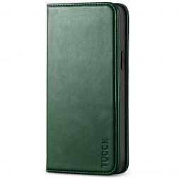 TUCCH iPhone 12 Mini Wallet Case - Mini iPhone 12 5.4-inch Flip Cover With Magnetic Closure-Midnight Green