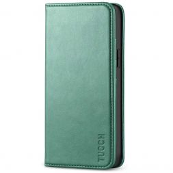 TUCCH iPhone 12 Mini Wallet Case - Mini iPhone 12 5.4-inch Flip Cover With Magnetic Closure-Myrtle Green