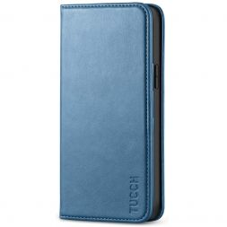 TUCCH iPhone 12 6.1-Inch Wallet Case - iPhone 12 Pro Flip Cover With Magnetic Closure-Lake Blue