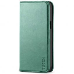 TUCCH iPhone 12 6.1-Inch Wallet Case - iPhone 12 Pro Flip Cover With Magnetic Closure-Myrtle Green