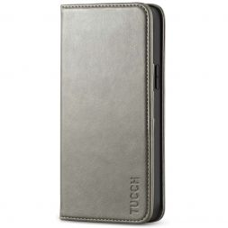 TUCCH iPhone 12 6.1-Inch Wallet Case - iPhone 12 Pro Flip Cover With Magnetic Closure-Gray