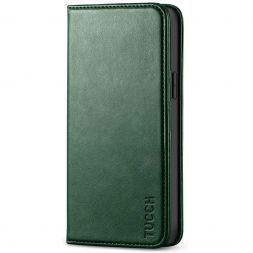 TUCCH iPhone 12 6.1-Inch Wallet Case - iPhone 12 Pro Flip Cover With Magnetic Closure-Midnight Green
