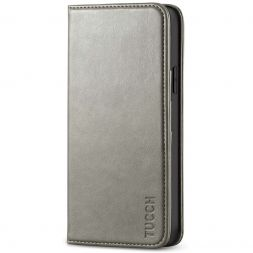TUCCH iPhone 12 Pro Max Wallet Case - iPhone 12 Pro Max 6.7-Inch Flip Cover With Magnetic Closure-Gray