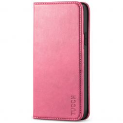 TUCCH iPhone 12 Pro Max Wallet Case - iPhone 12 Pro Max 6.7-Inch Flip Cover With Magnetic Closure-Hot Pink