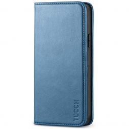 TUCCH iPhone 12 Pro Max Wallet Case - iPhone 12 Pro Max 6.7-Inch Flip Cover With Magnetic Closure-Lake Blue