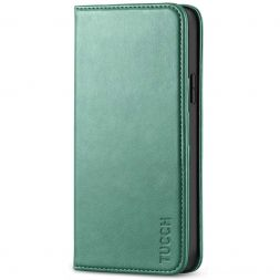 TUCCH iPhone 12 Pro Max Wallet Case - iPhone 12 Pro Max 6.7-Inch Flip Cover With Magnetic Closure-Myrtle Green