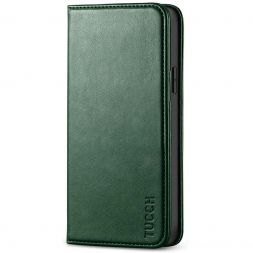 TUCCH iPhone 12 Pro Max Wallet Case - iPhone 12 Pro Max 6.7-Inch Flip Cover With Magnetic Closure-Midnight Green
